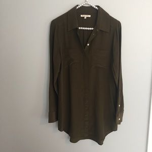 Broadway & Broome Madewell Green Silk Tunic
